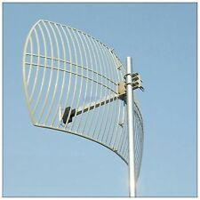 Long Range Wifi Antena 24dbi 2.4 ghz Wireless Red Parabólico De Aluminio Antena N