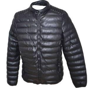 Bomberino uomo effetto pelle basic invernale caldo slim fit comodo tasche intern