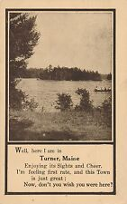 TURNER ME – I'm Here in Turner, Maine - 1910