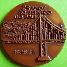 L@@k Lisbon 25 de Abril Suspension Bridge Tejo River Roads Highway Bronze Medal!