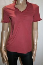 Capture Brand Rose Ruffit Trim Short Sleeve Top Size 10 BNWT #TA33