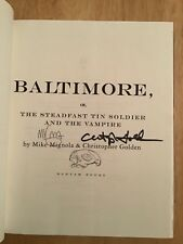 RARE SIGNED x2 Mike Mignola w/ Sketch, Christopher Golden - BALTIMORE HC 1st/1st