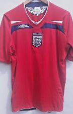 England Soccer Jersey Official Umbro L  Mans Football 2008-10 Away Red Shirt