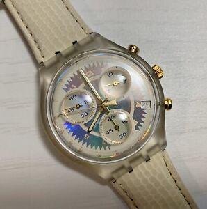 Watch Swatch Chrono Chronograph WHIPPED CREAM SCK400 1994