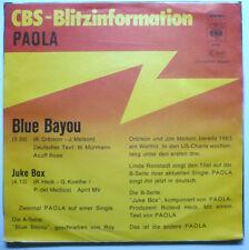 """PAOLA - Blue bayou - 7""""-Single > CBS-Blitzinfo"""
