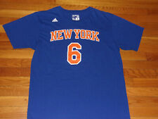 ADIDAS NEW YORK KNICKS KRISTAPS PORZINGIS BASKETBALL T-SHIRT MENS XL EXCELLENT
