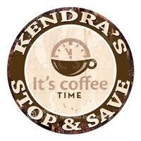 CWSS-0403 KENDRA'S STOP&SAVE Coffee Sign Birthday Mother's Day Gift Ideas