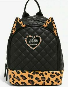 Riverdale Josie and the Pussycats Leopard/Black Mini Backpack School Bag NWT