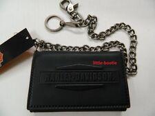 Harley-Davidson Geldbörse Herren Portemonnaie Wallet Leder Hartgeldfach Kette IM