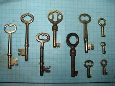Brass Keys - Lot Of 10 Skeleton And Barrel Keys