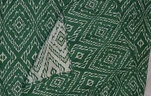 Set Of 6 Placemats Green And Cream Color Preowned Size 17x 13.5 Inches