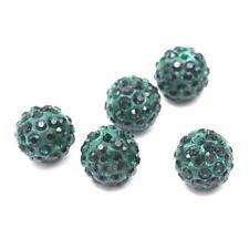 Lot de 5 10 20 50 100 200pc Perles Shamballa 10mm Cristaux Couleur au Choix NEUF