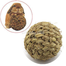 10cm Pet Chew Play Toy Grass Ball with Bell for Rabbit Hamster Guinea Pig Rat AU