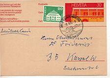 Suiza Entero Postal circulado año 1973 (DE-751)