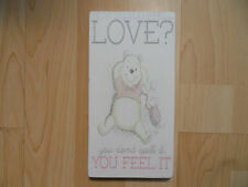 Shabby Winnie The Pooh Love plaque/sign, free standing chic and unique