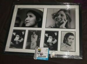 CARRIE FISHER Official Owned Star Wars Pass + Framed PP Signed Display Photo's
