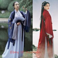 4 Pcs Set Hanfu Women's Dress Inner Tops Skirt Coat Cosplay Swordsman Han Dress