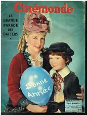 ANCIENNE REVUE CINEMONDE 1958 SIMONE RENANT JOEL PLATEAU BONNE ANNEE