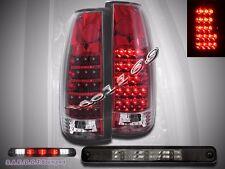 1988-98 CHEVY SILVERADO GMC SIERRA GMC C/K TRUCK RED LED TAIL LIGHTS+ 3RD BRAKE