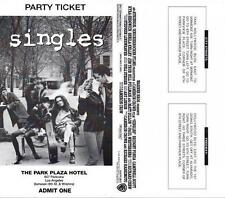 PEARL JAM Concert Party Ticket For SINGLES Movie Premiere LA 1992