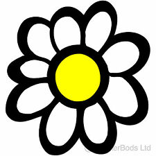 26x WHITE DAISY FLOWERS car nursery stickers decals