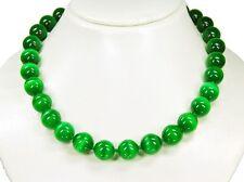 Precioso Collar de Verde Ojo de Gato en Forma de Bola D-14mm -498
