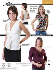 Jalie Twist Top w/Modesty Panel, Flounce & Maternity Options Sewing Pattern 2788