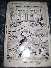 S.H.I.E.L.D. Nick Fury #4 11X17 Jim Steranko signed original comic stat art LOOK