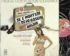 Walter Scharf DONOVAN Rags ...se è martedì deve .... LP ITALY beat ost 1969 mint