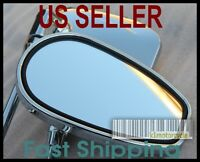 Pair Chrome Mirrors Kymco Agility Vitality Super Sento People 50 125 150 250