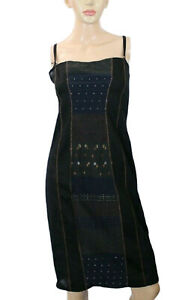 Hybris Women's Dress Embroidered Stretch Semi Sheer Size M