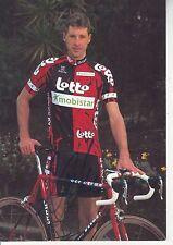 CYCLISME carte cycliste MARC WAUTERS équipe LOTTO MOBISTAR 1997 signée