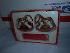 Set 2 Vtg Ceramic Christmas Rocking Horse Candle Holders Figurines Decorations