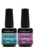 Artistic Nail Design Colour Gloss 2pc- BASE & TOP COAT (Bonding & Glossing Gel)