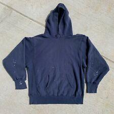 New listing Vintage 80s Champion Reverse Weave Distressed Sweatshirt Hoodie Navy Usa Made Xl