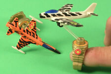 Matchbox Ring Raiders Finger Fighter Jets 1 Orange & 1 White Dated 1988