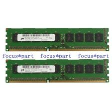 Micron 16GB 2X 8GB DDR3-1333Mhz PC3-10600E 2Rx8 240Pin ECC Unbuffered Memory RAM