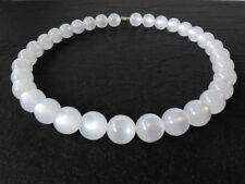 A Sign *Snowbride* Kette/Halskette Polaris Kugel-Perlen glänzend Schnee-weiß