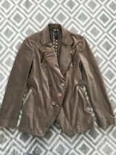 High Use Claire Campbell Brown Velour Peacoat Coat Jacket US 6  IT 42 NEW