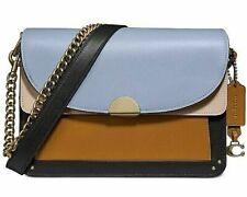🌺🌹Coach Colorblock Leather Dreamer Shoulder Bag Mist Straw Multi/Gold 76044