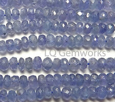 "14"" Strand TANZANITE 4.5mm Faceted Rondelle Beads NATURAL /L7"