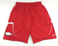 New Nike Team Eagles Woven DRI-FIT Training Basketball Shorts Men's L Red 719907