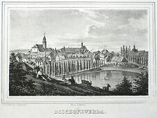 Bischofswerda-vista general-Saxonia-litografía 1834/1835