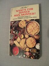 What's For Dinner Mrs. Skinner? 1971 Paperback Very Good Condition