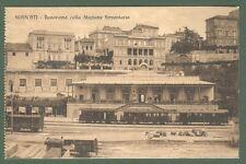 Lazio. FRASCATI, Roma. Stazione ferroviaria. Cartolina  viaggiata nel 1915.