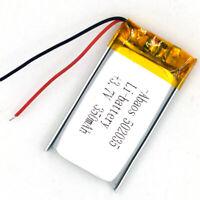 USA Stock 3.7V 350mAh 502035 Rechargeable Li-po Liion Battery For GPS Speaker