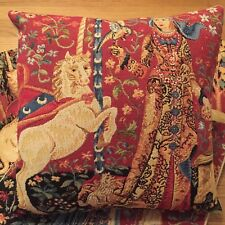 "LADY & THE UNICORN 5 SENSES, THE TASTE 14"" 35CM TAPESTRY CUSHION COVER WITH ZIP"