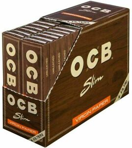 OCB Brown Virgin Unbleached King Size Smoking Rolling 32 Paper Skins Tips Roach