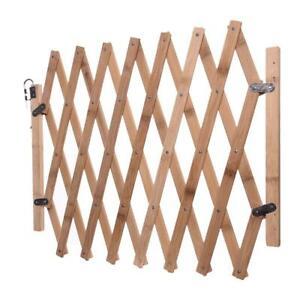 Wooden Sliding Protector Door Dog Fence Gate Pet Security Retractable Barrier