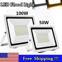 50W 100W Led Flood Light Waterproof Outdoor Garden Security Spot Lamp Dimmable
